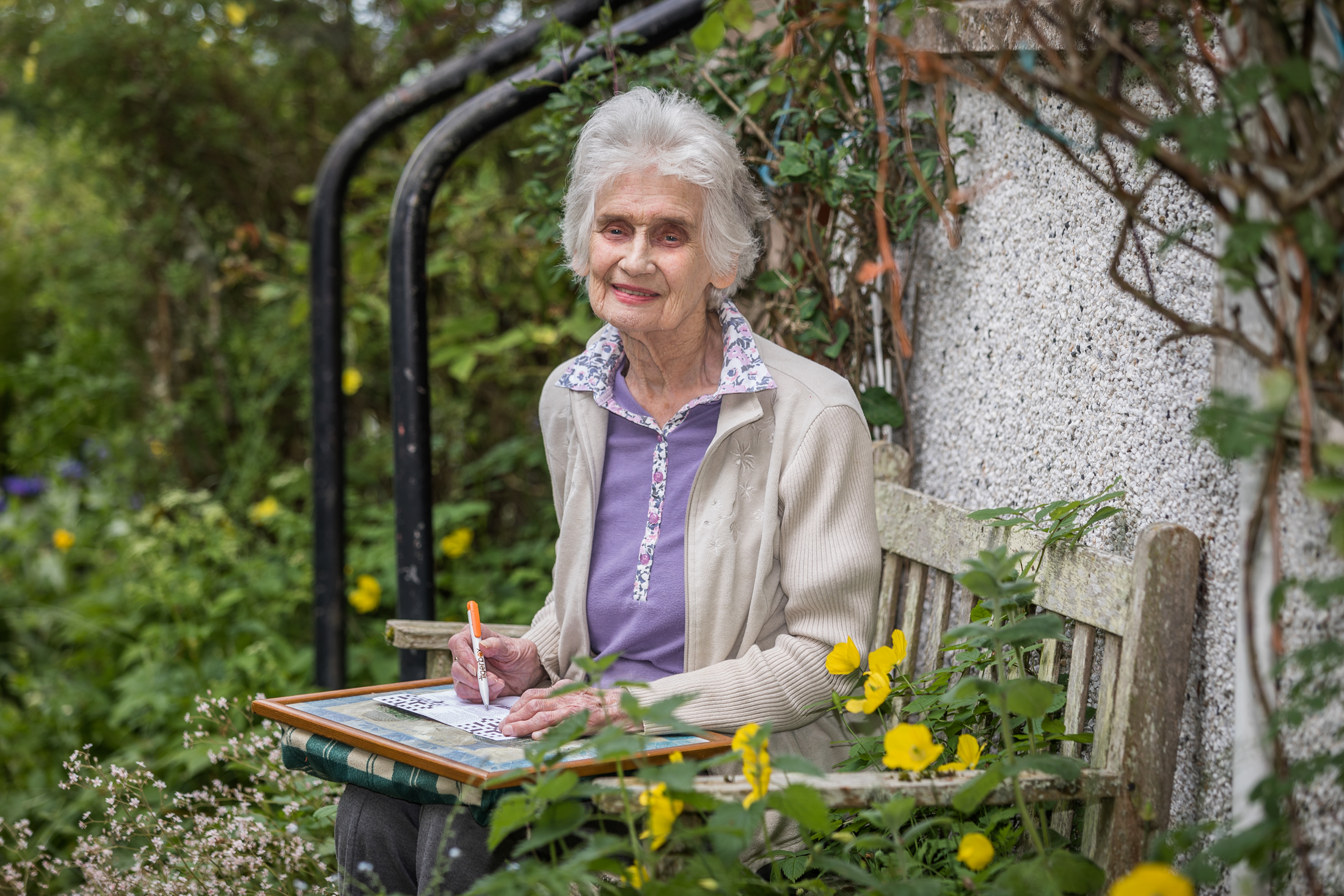 91 year old Ida Donnahie of Maryburgh has been keeping herself busy completing P&J crosswords during the pandemic lockdown.