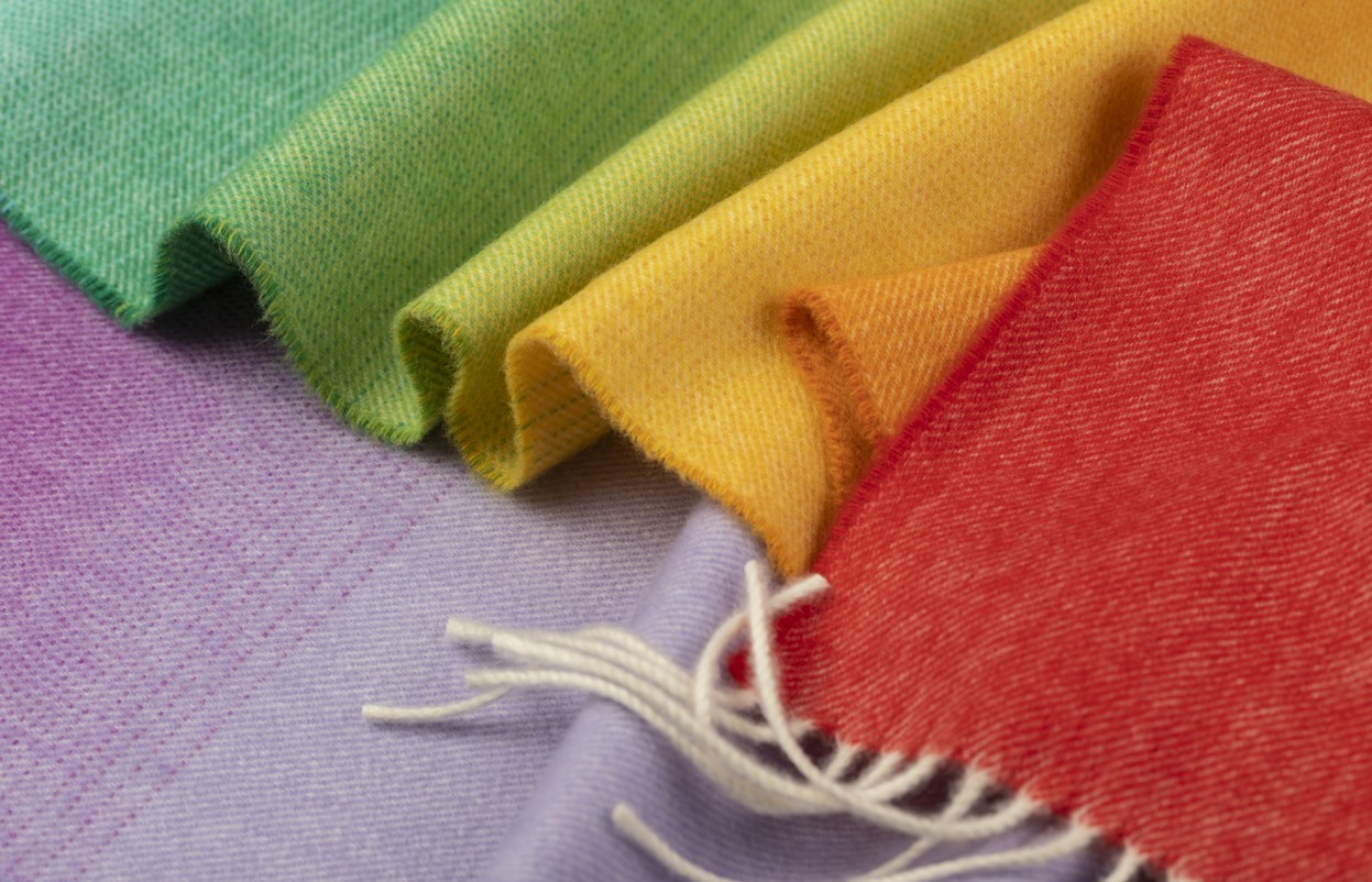 Rainbow scarfs on sale to support the NHS.