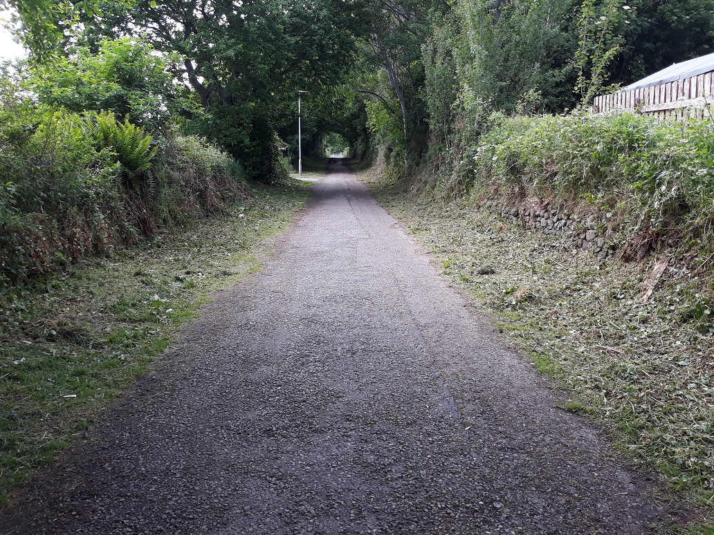 Kinmylies Way in Inverness that is being transformed as part of the improvement works.