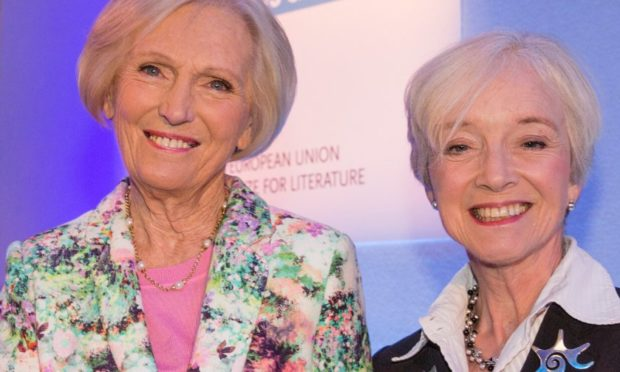 Author and presenter Mary Berry with Felicity Bryan