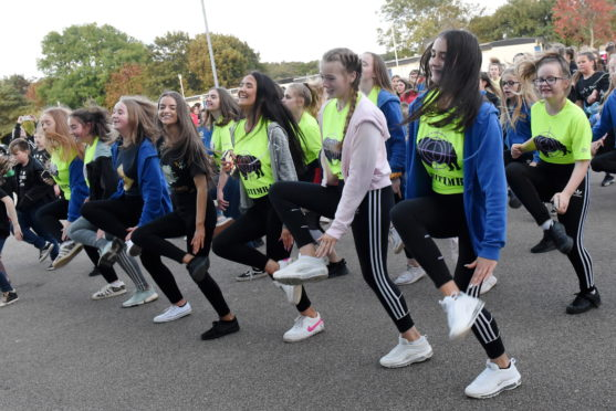 800 pupils across Aberdeenshire would have participated in the Make It Happen event.