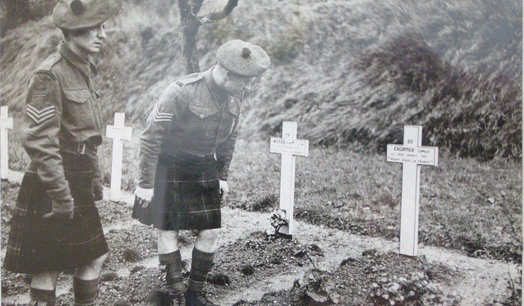 Malcolm Straughan escaped from St Valery and later helped liberate it in 1944.