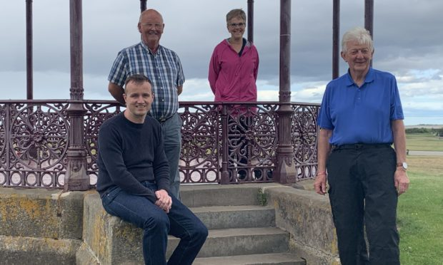 Nairn Bid chairman Michael Boylan, Tommy Hogg, chairman of Nairn River Community Council, Sheena Baker chair of Nairn West and Suburban Community Council and Alastair Noble Chairman of Nice