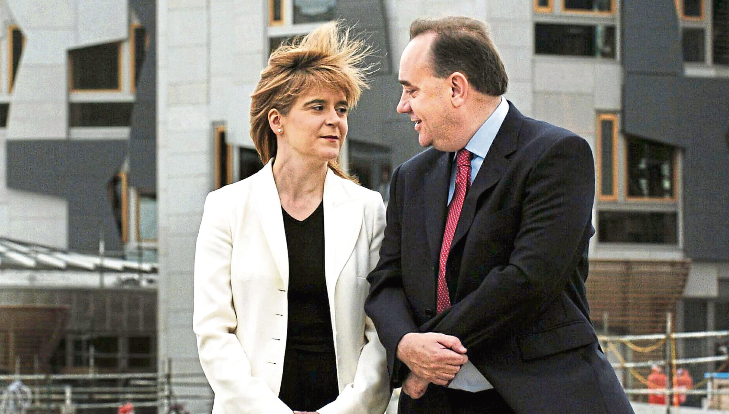 Nicola Sturgeon and Alex Salmond.