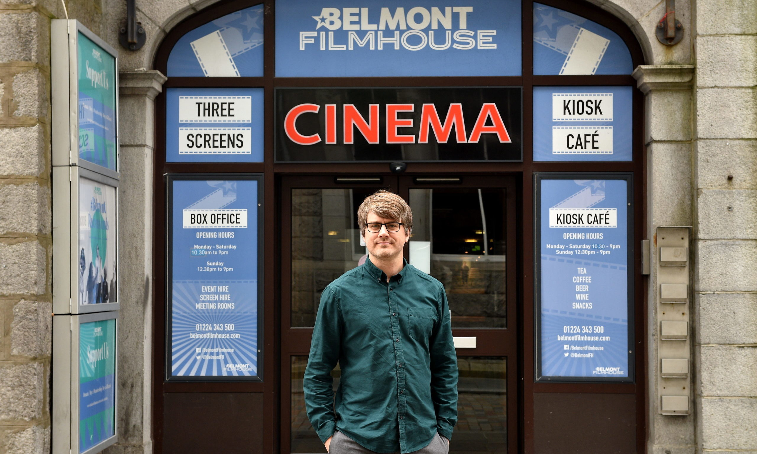 Pictured is Colin Farquhar, manager of Aberdeen's Belmont Filmhouse. He has launched a survey of local film fans on how they would feel about returning to the cinema as the Coronavirus lockdown is eased.  Picture by Darrell Bens.