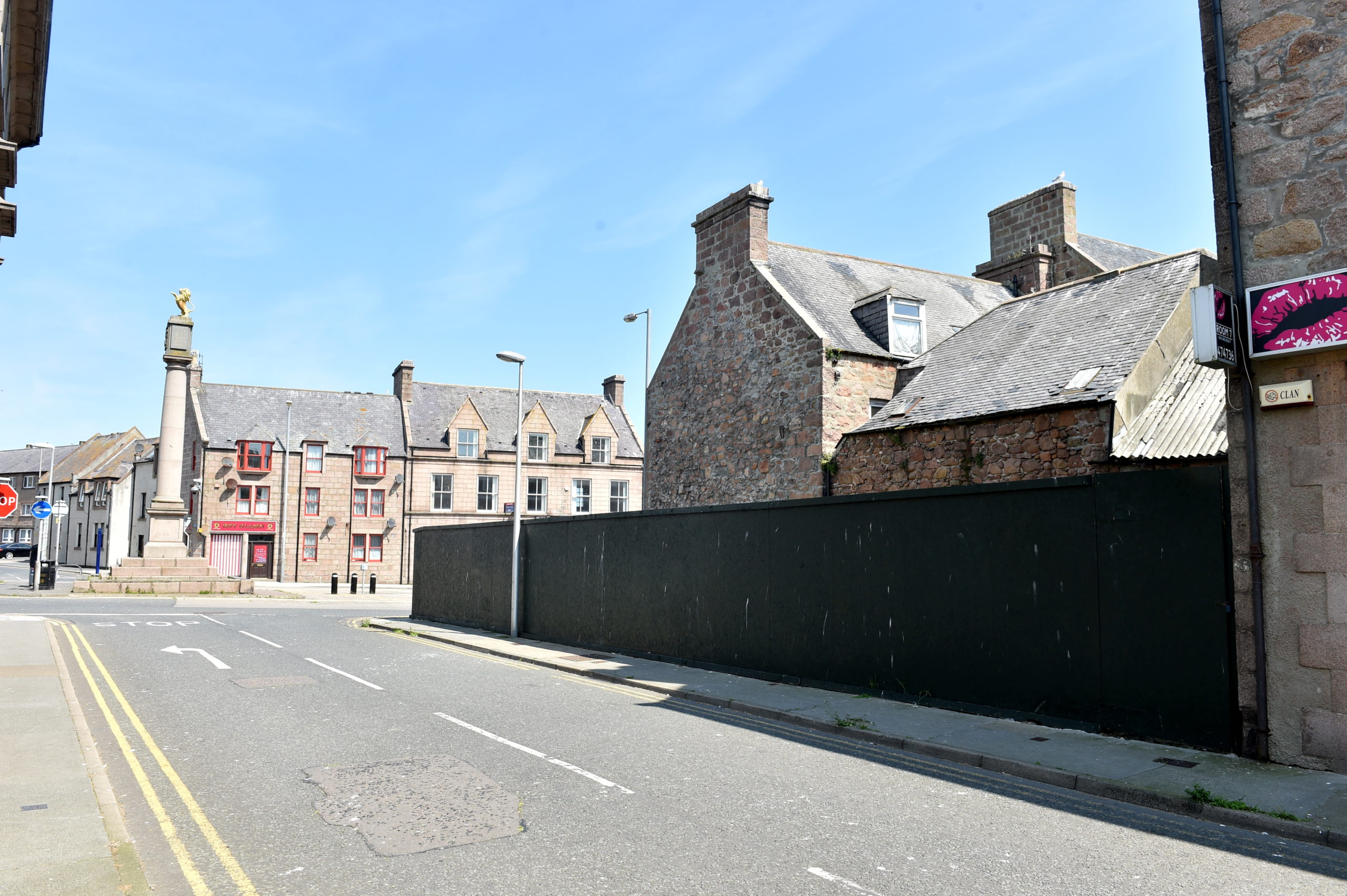 The site on the corner of Broad Street and Rose Street in Peterhead. Picture by Darrell Benns.