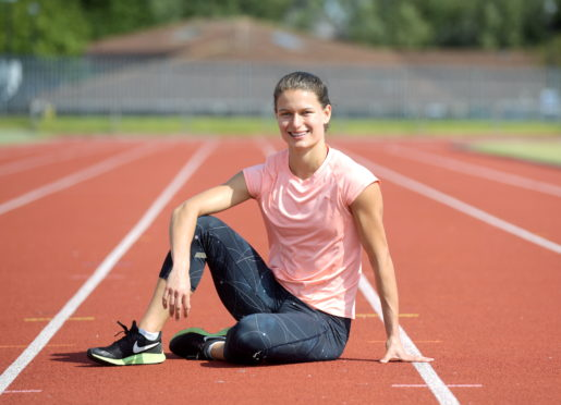 Zoey Clark is back intaining at Aberdeen Sports Village. Picture by Kath Flannery