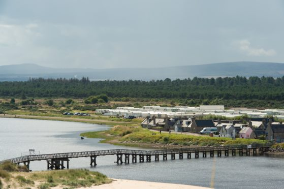 The current East Beach bridge has stood on the River Lossie for more than 100 years. Picture by Jason Hedges