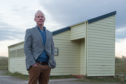 Laurie Piper, chief executive of Visit Moray Speyside, at public toilets in Findhorn.