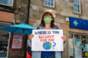 About a dozen campaigners attended the event in Forres town centre.