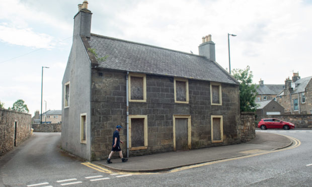 Number 13 North College Street in Elgin, Moray. Pictures by JASON HEDGES