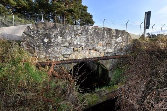 Foths Burn bridge near Birnie was shut in 2019.