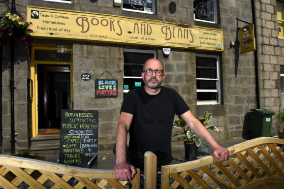 Books and Beans owner John Wigglesworth. Picture by Kenny Elrick.