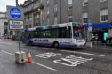 The bus gate on Union Street between The Adelphi and Market Street. Picture by Kenny Elrick.