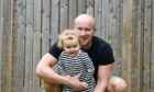 Matt and Lux Irvine playing in their garden   Picture by Paul Glendell