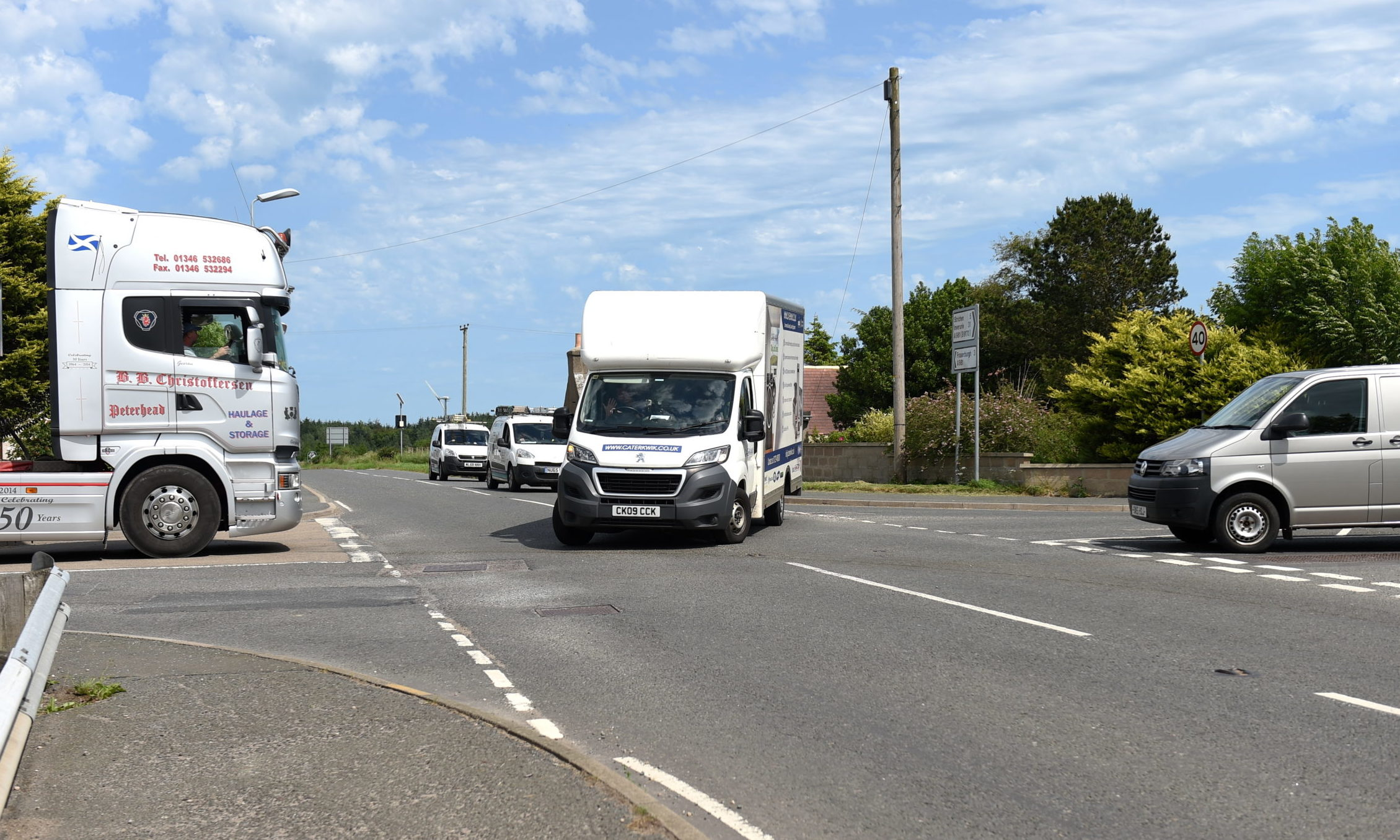 A traffic survey is to be carried out at junction of the A981 / B9032.