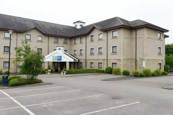 The Holiday Inn Express at Stoneyfield, Inverness which has reopened to essential workers. Picture by Sandy McCook