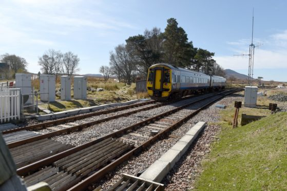 ScotRail services are operating at reduced speeds.
