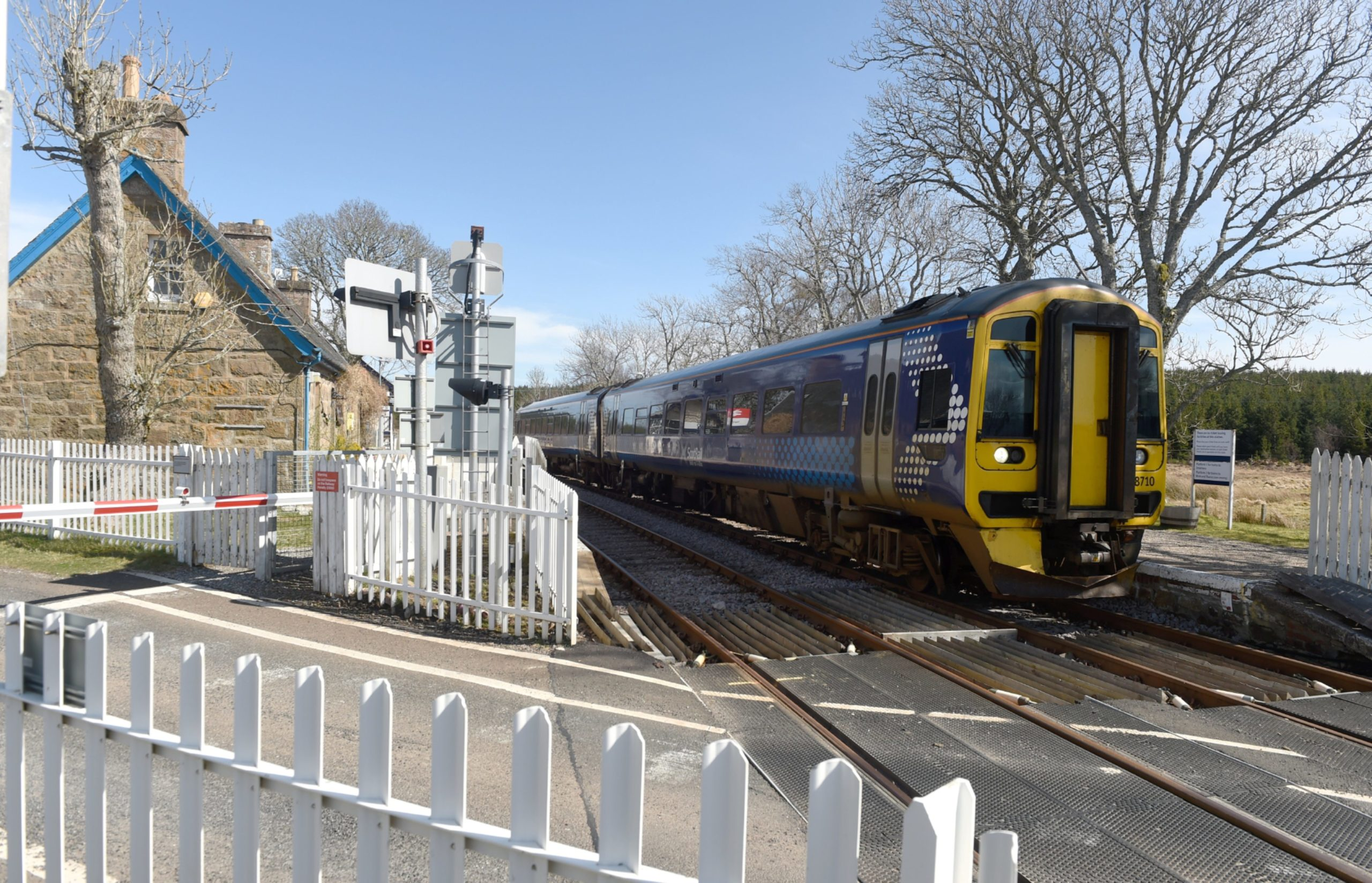 Forsinard Station in Sutherland with a Scotrail train on the line from Wick and Thurso to Inverness, The Far North Line. Picture by Sandy McCook