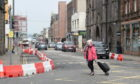 Work has been going on in Inverness city centre to narrow streets, as here in Academy Street. Pictures by Sandy McCook