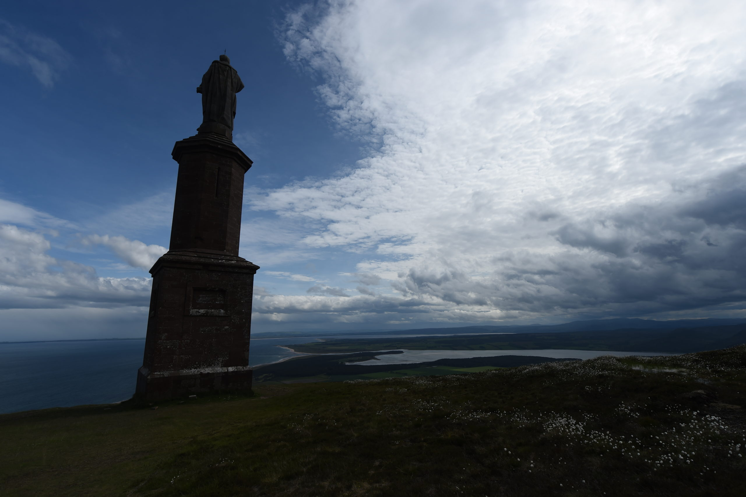 The Duke of Sutherland statue which stands on top of Ben Bhraggie, Golspie. Picture by Sandy McCook.