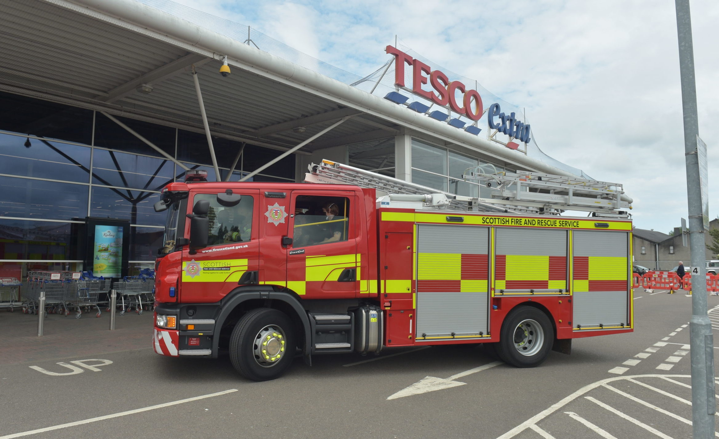The scene at Tesco in Elgin. Picture by Jason Hedges.