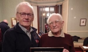 Chairman Robert Paton and Bert Hosie, honorary lifetime president of Grampian Cardiac Rehabilitation Association (GCRA+)