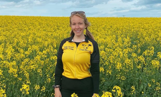 Seonaidh Baker cycled 546 miles for Dogs Trust.