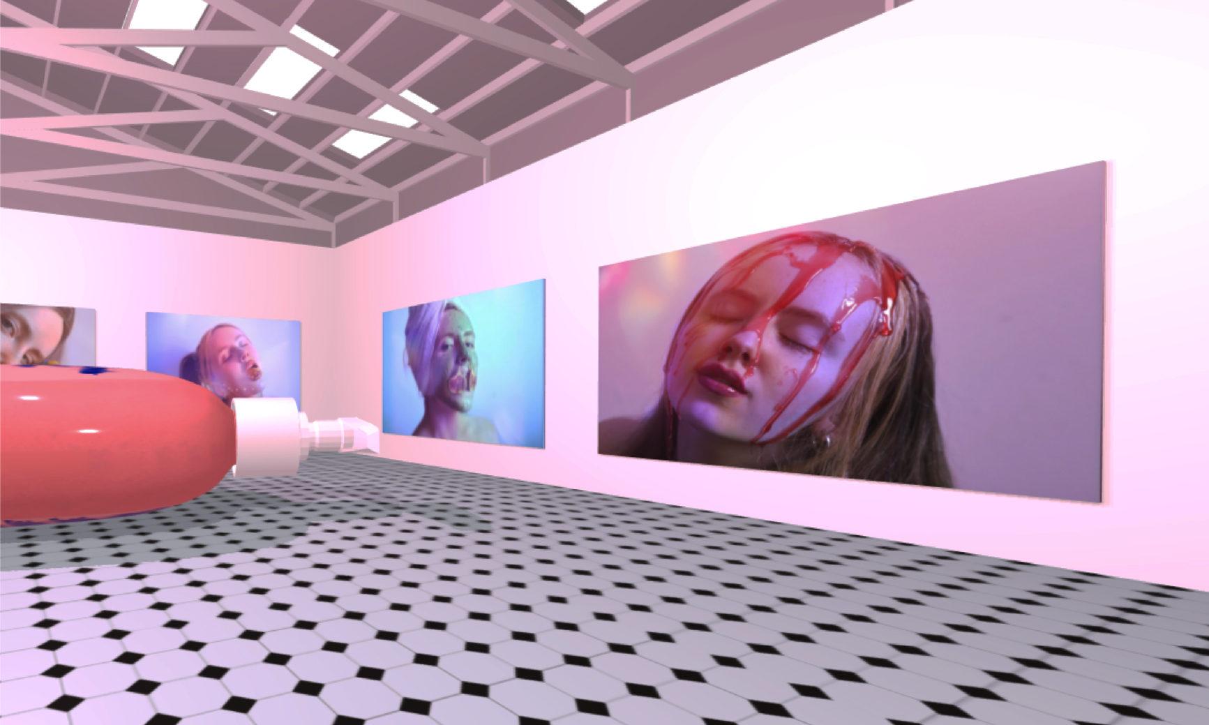 Contemporary art practice graduate Shae Myles' exhibition space.