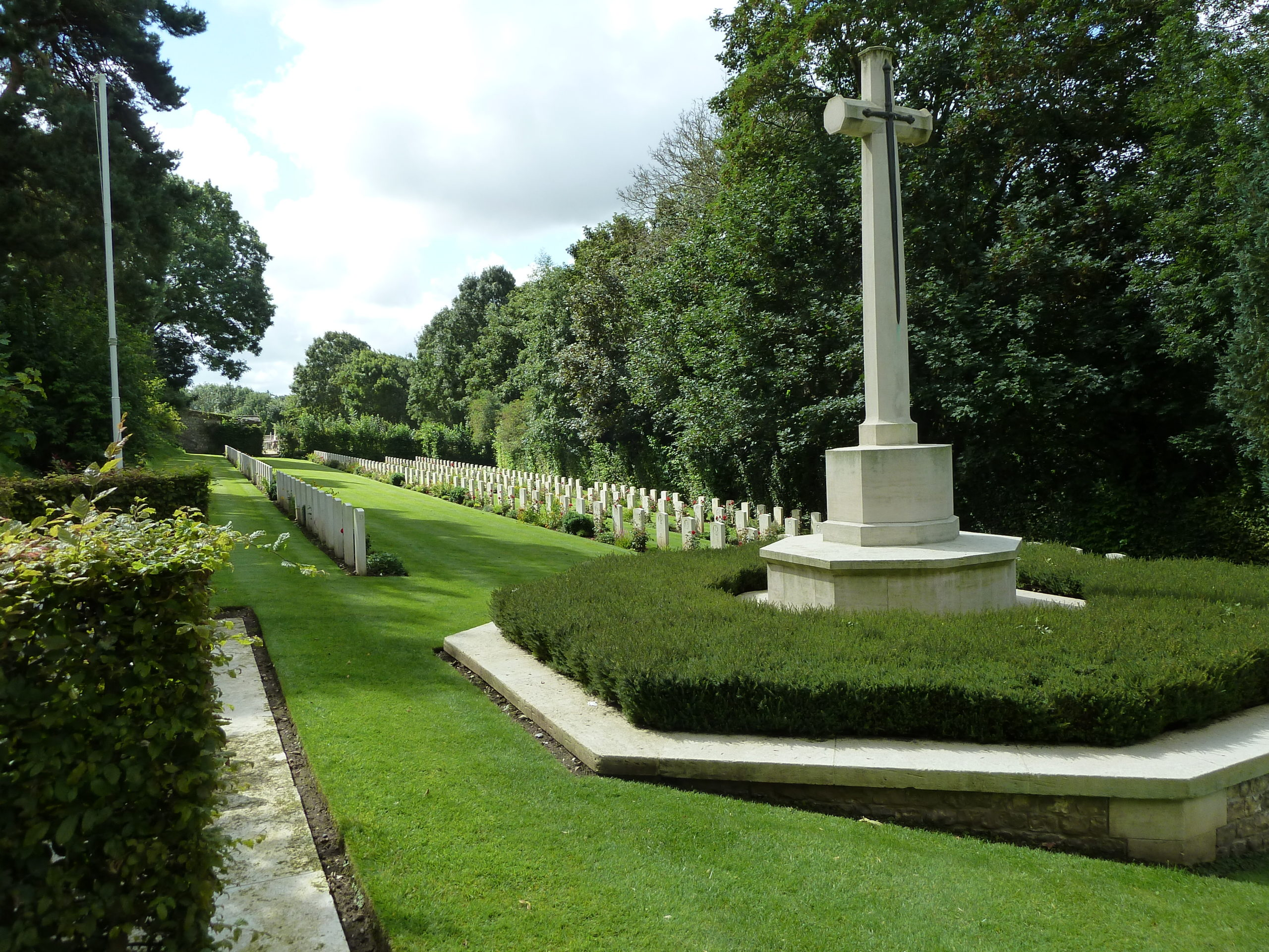The St Valery cemetery commemorates so many north-east soldiers.