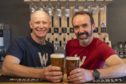 Windswept Brewing 's Nigel Tiddy and Al Read are grateful for the support.