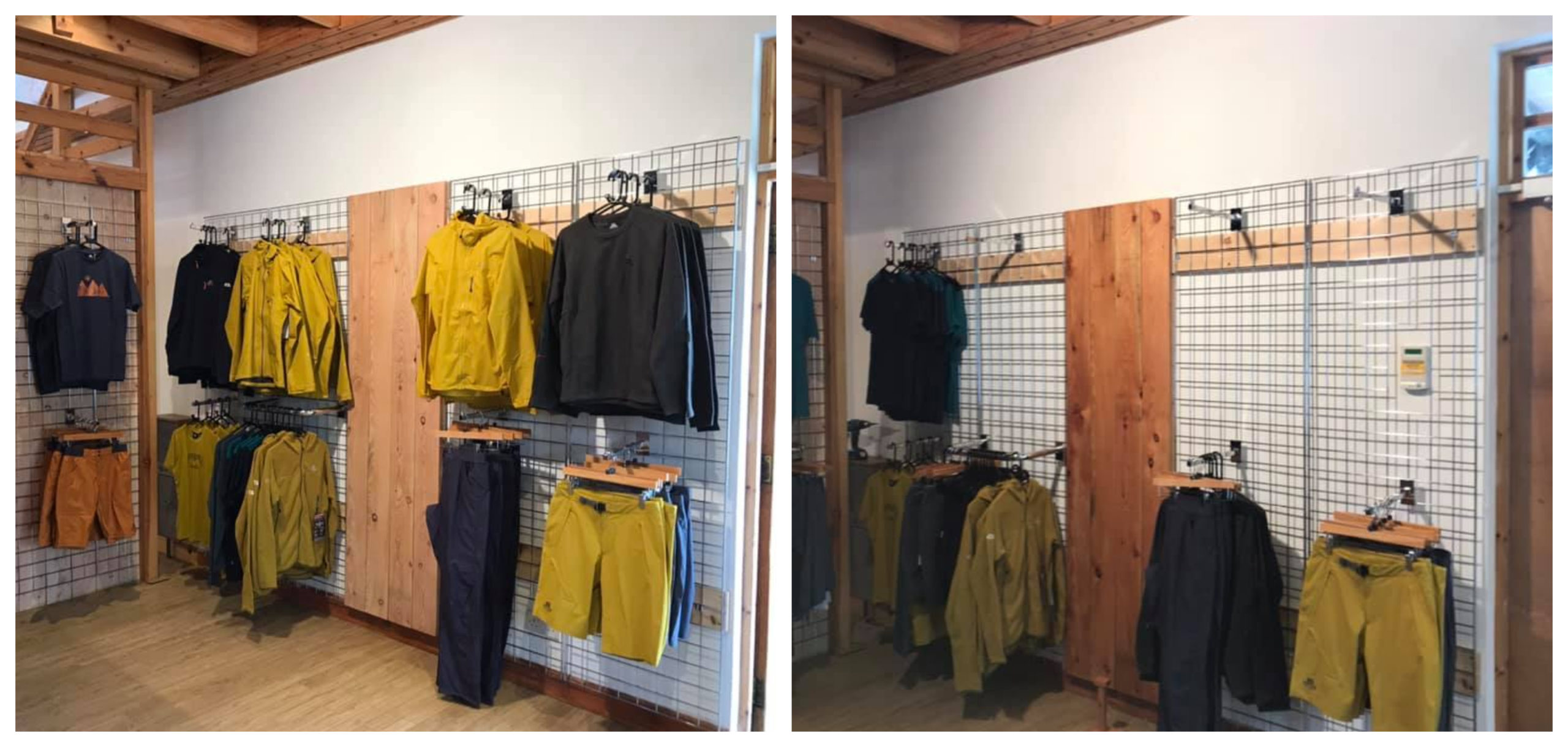 Before and after: Some of the items stolen from the shop
