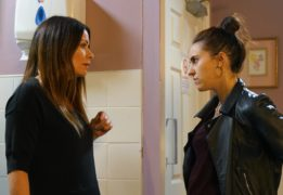 Isobella Hubbard plays newcomer Chelsey who recognises Rovers Return owner Carla Connor.