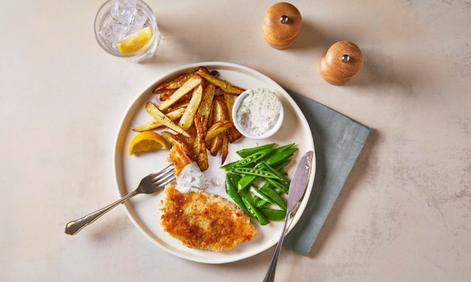 Make your own crispy fish and chips.