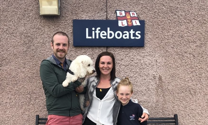 Mason and family finished their challenge at the lifeboat station.