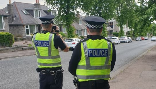 Officers carrying out speed checks in the Formartine area