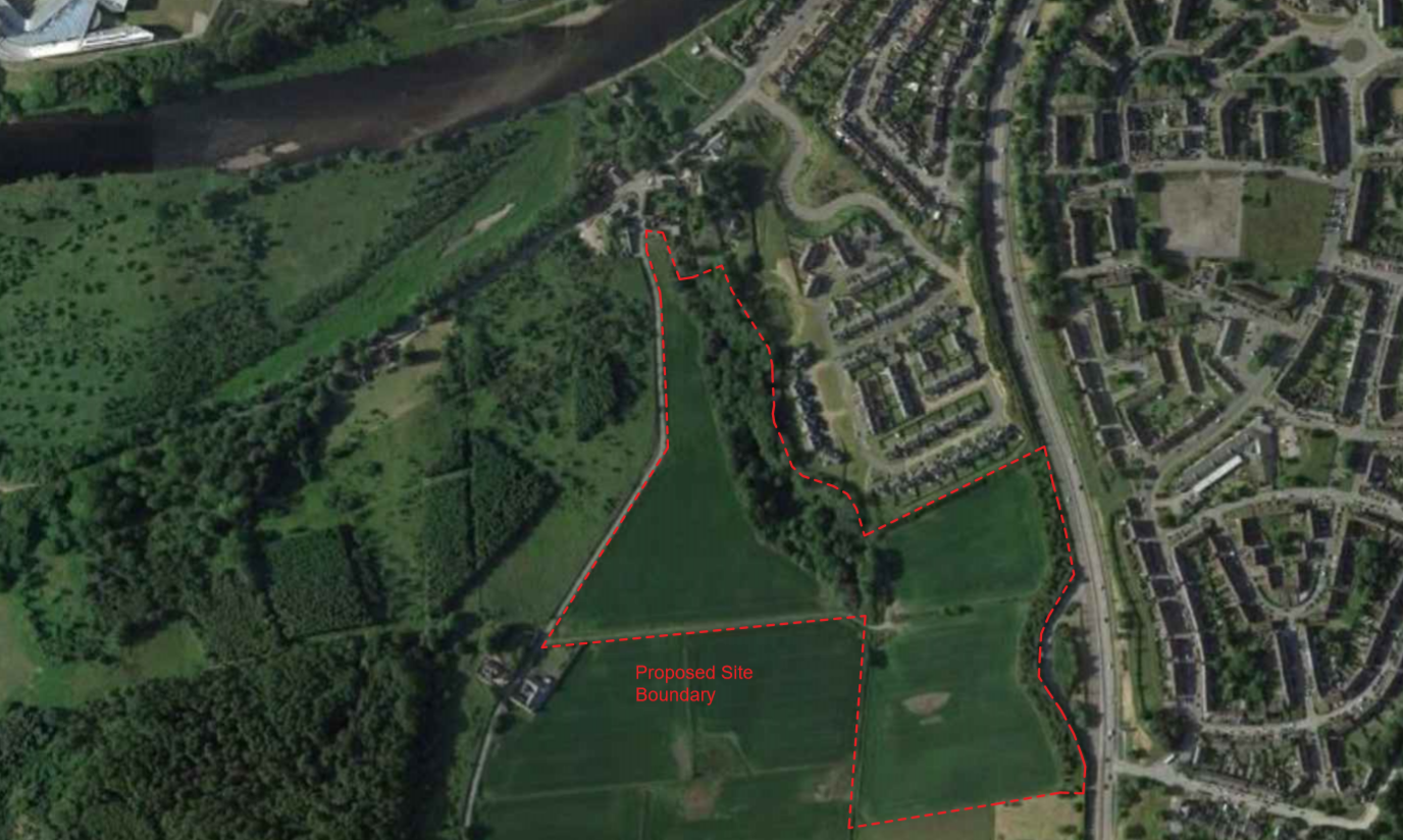 The proposed development from Comer Property Group at Leggart Brae, just south of the River Dee.