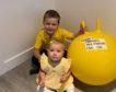 Mason, 4, and Piper Laing, 1.