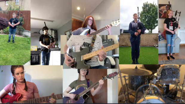 Elgin High pupils showcased their musical talents in online contest.