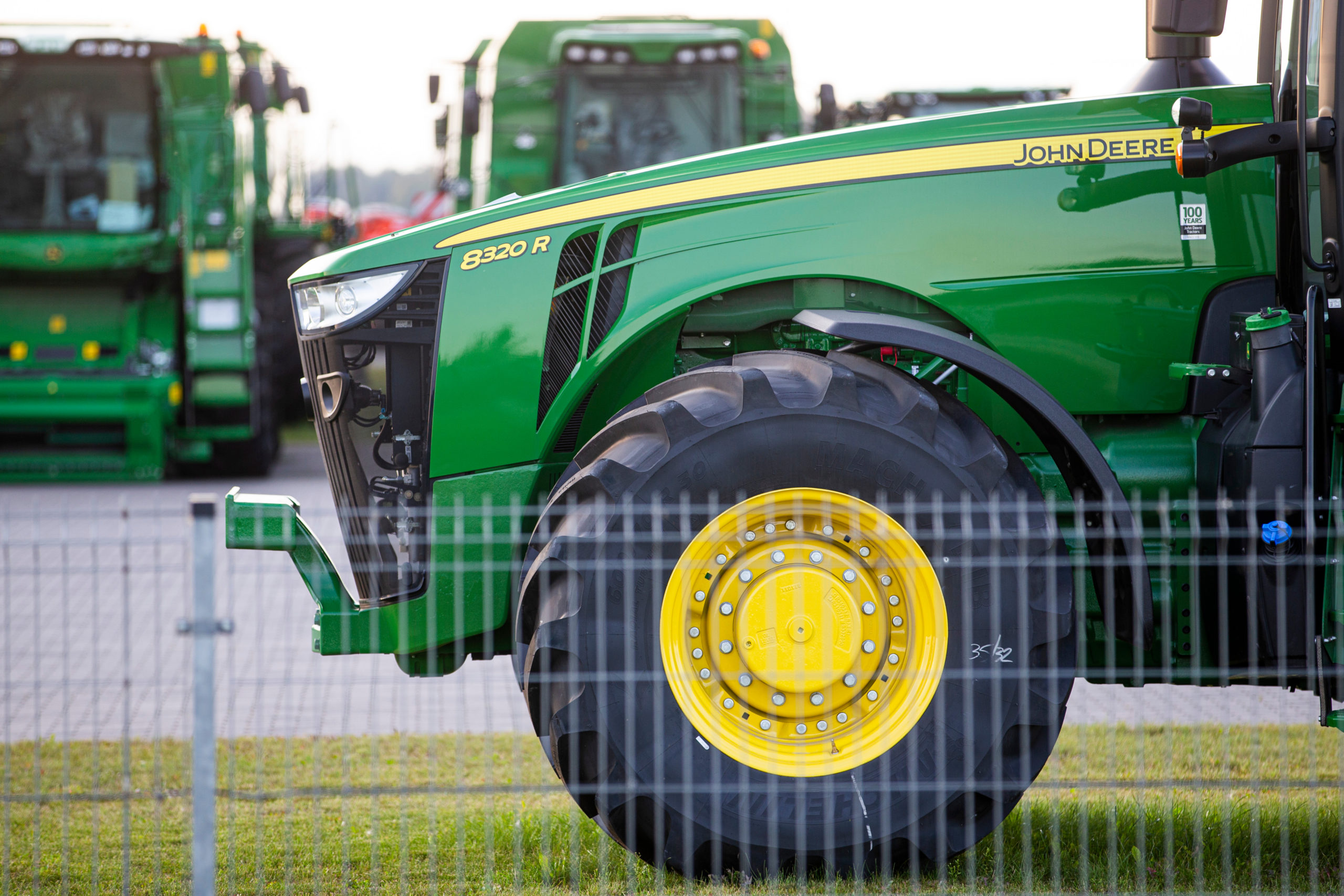 Tractor sales fell by 42%  last month compared to May last year.