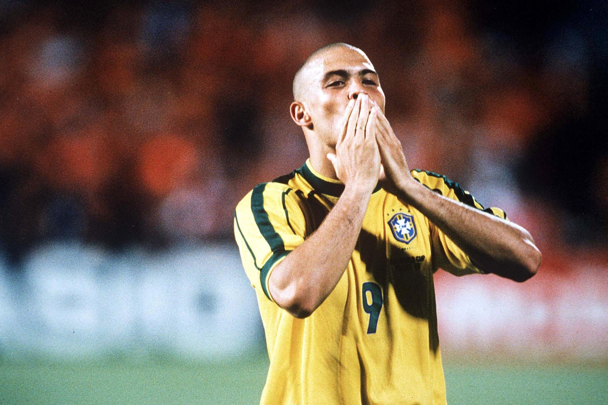 Ronaldo during the 1998 World Cup in France.