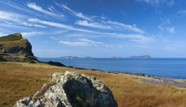 The Garvellachs Islands in the Firth of Lorne from the Isle of Luing