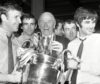 Sir Matt Busby with the European Cup in 1968.