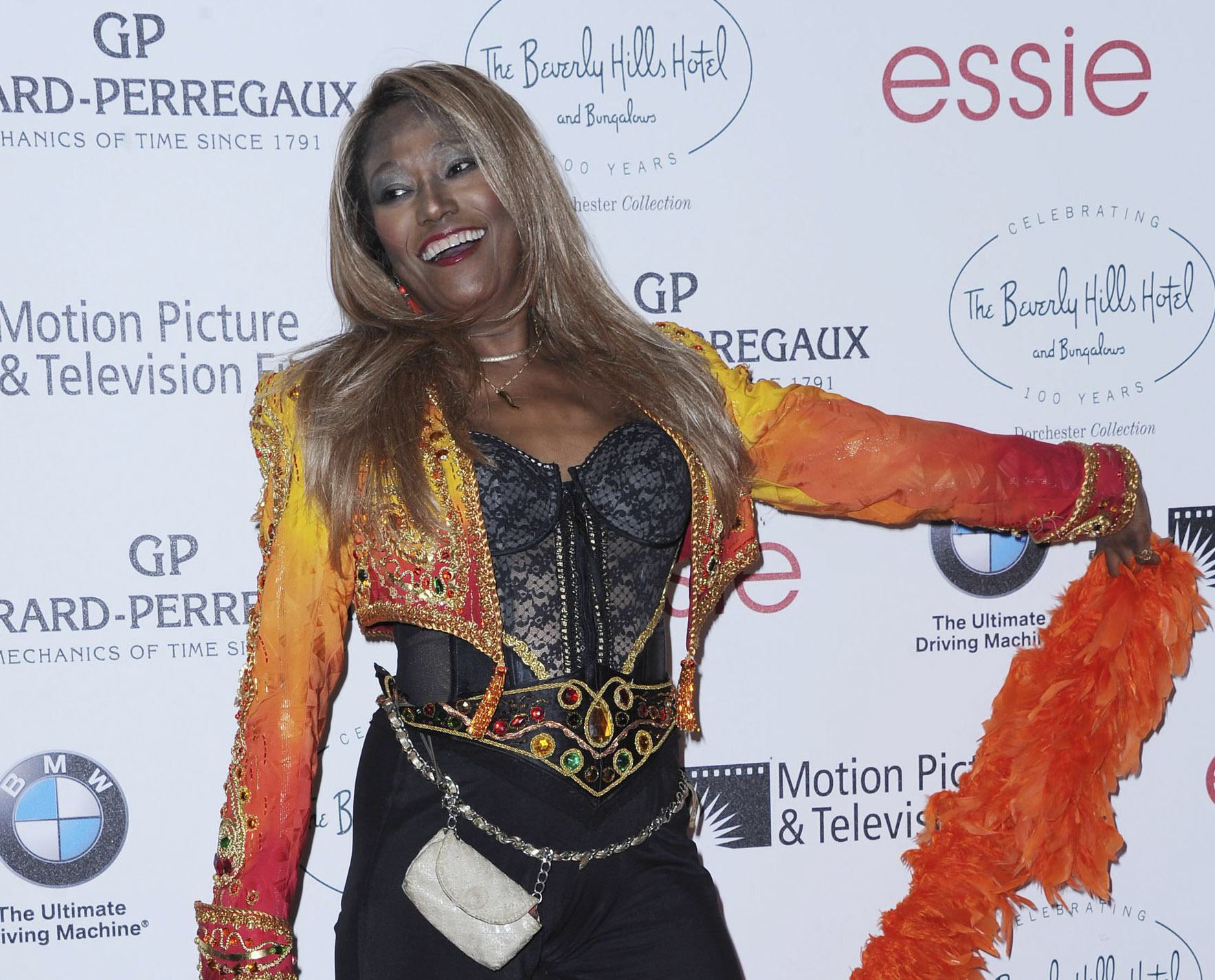 Mandatory Credit: Photo by Katy Winn/Invision/AP/Shutterstock (10673819a) Bonnie Pointer attends the 100th Anniversary of The Beverly Hills Hotel in Beverly Hills, Calif. Pointer, founding member of the Pointer Sisters, has died. Publicist Roger Neal says Pointer died of cardiac arrest in Los Angeles on Monday. She was 69 Obit Bonnie Pointer, Beverly Hills, United States - 16 Jun 2012
