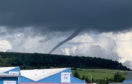 A funnel cloud spotted above Dyce