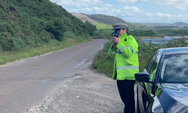 Police on duty along the North Coast 500 route.