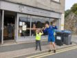 Ethan McNeil, 7, walked 10km from The Coffee Apothecary in Udny to the cafe's Ellon branch to raise funds for the foodbank his church supports.