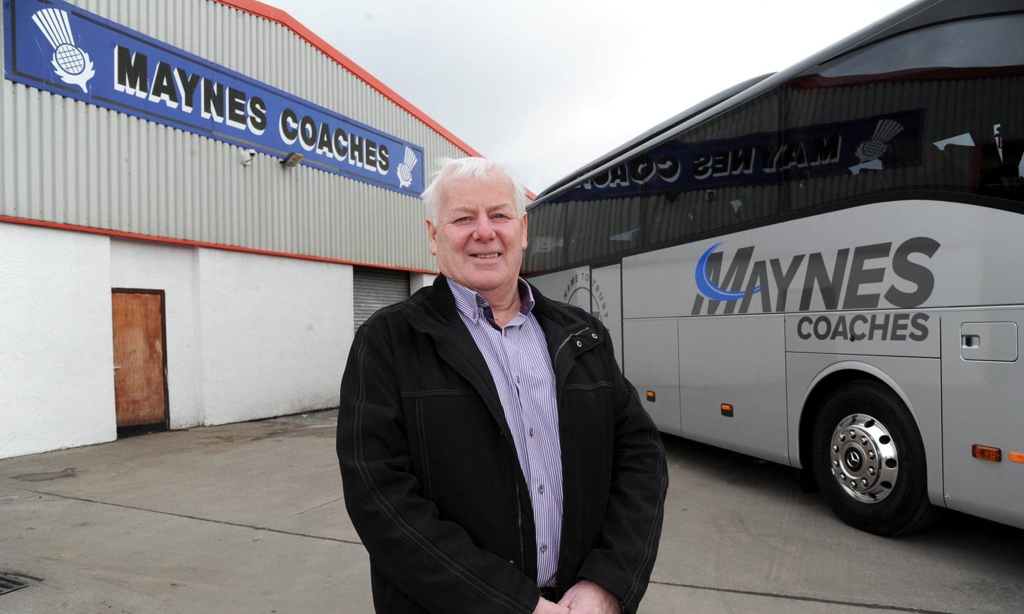 Gordon Mayne of Maynes Coaches.