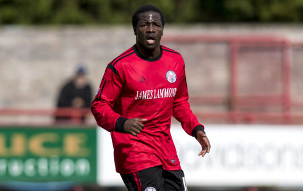 Isaac Layne in action for Brechin City