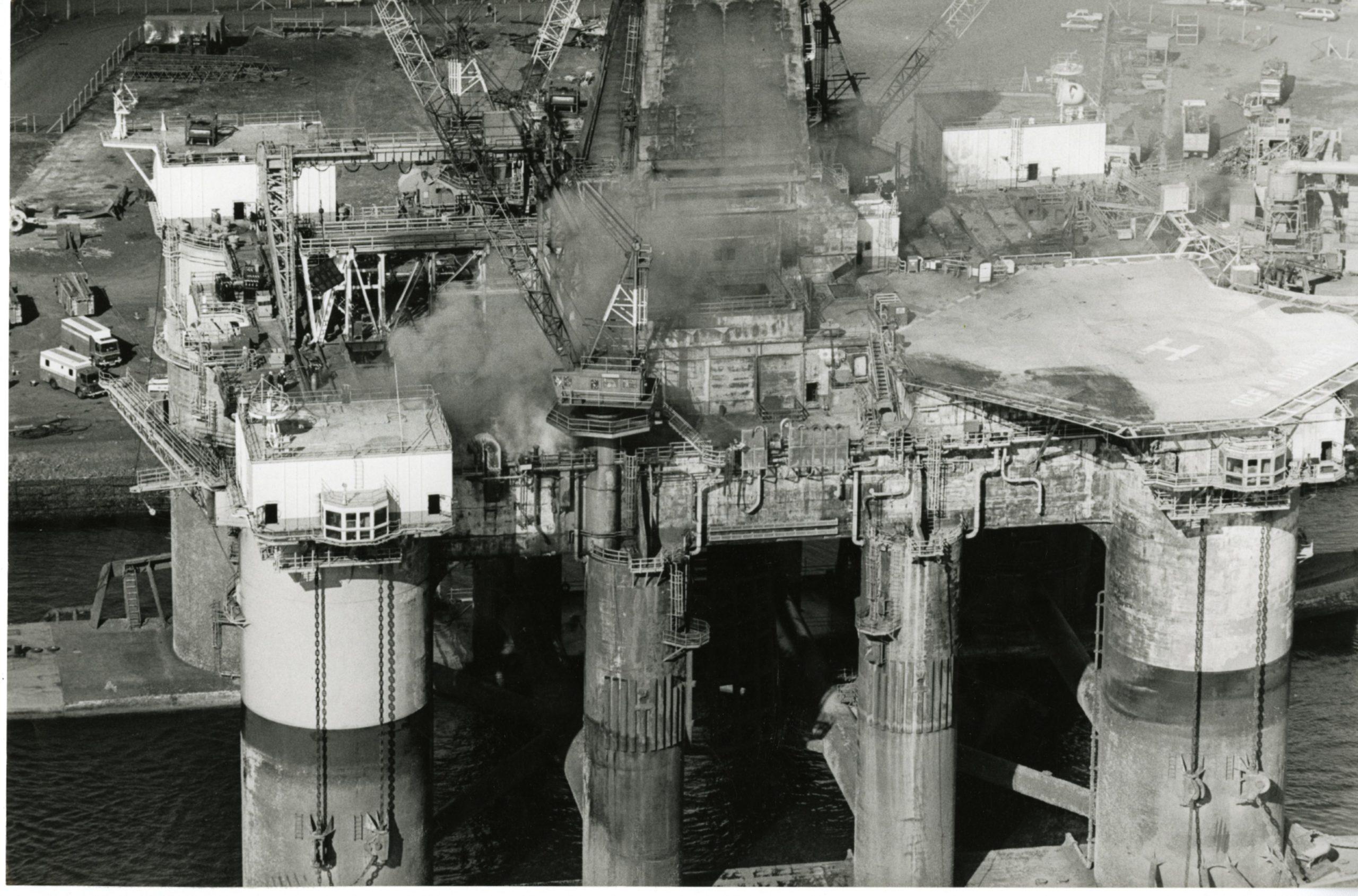 Ocean Odyssey fire in March 1989.